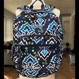 Vera Bradley Backpack Navy/Blue Print
